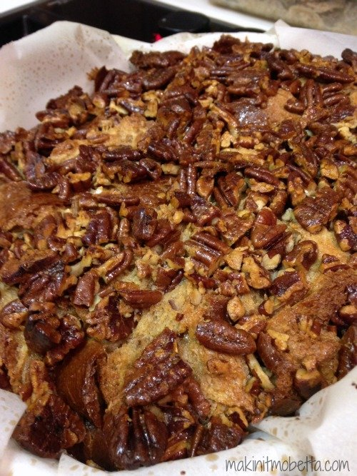 Pecan Pie Bread Pudding - after