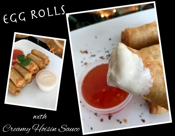 Egg rolls w sauce collage_Fotor