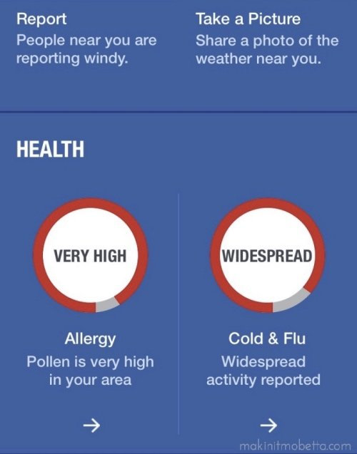 Health report from Weather Channel_Fotor